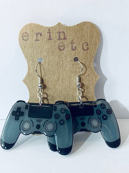 Handmade Dangle Earrings - PlayStation Controller
