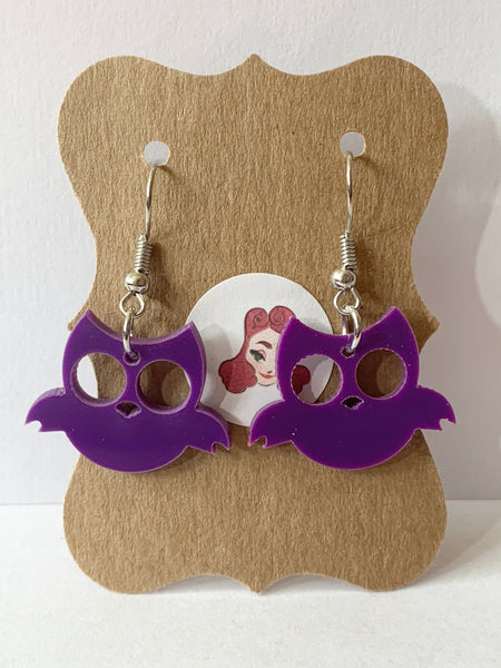 Acrylic Earrings - Owls