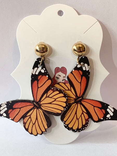 Acrylic Earrings - Butterflies