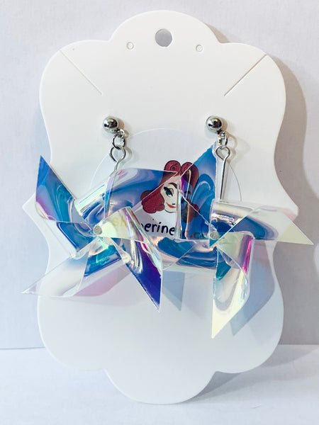 Plastic Dangle Earrings - Pinwheels