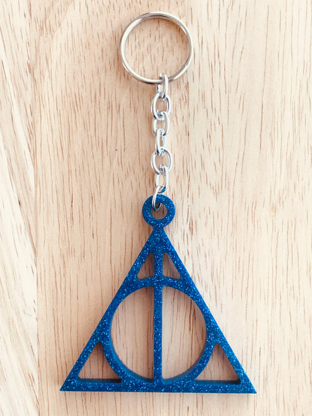 Handmade Resin Keychain - Deathly Hallows