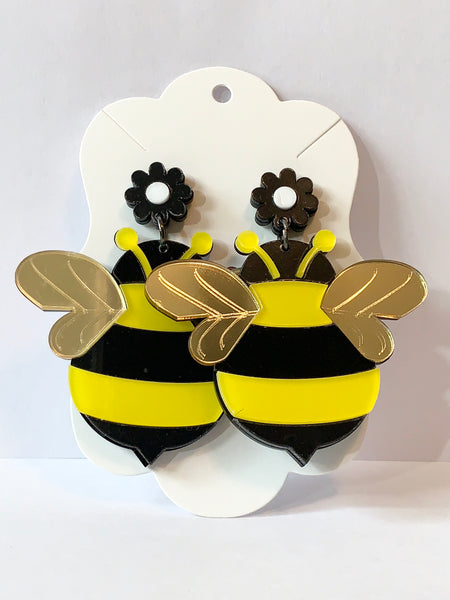 Acrylic Earrings - Bees