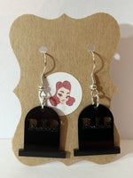 Acrylic Earrings - Tombstone