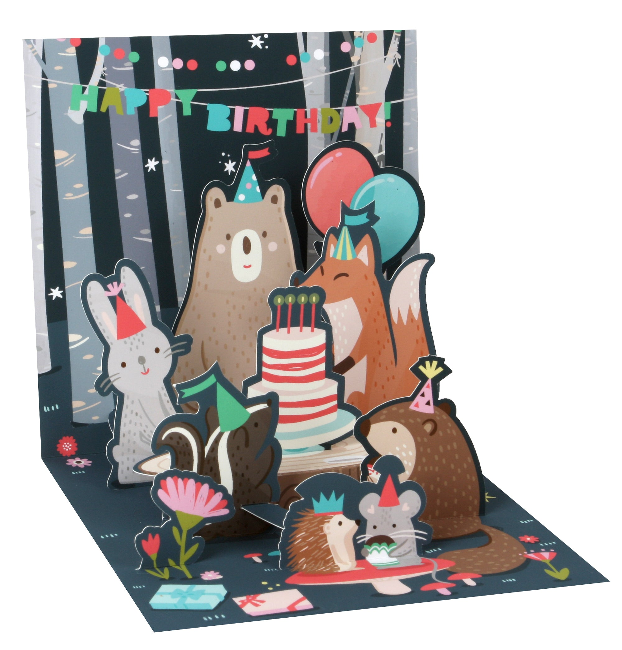 Lit Nocturnal Animals Birthday Pop-Up Card - Heart of the Home PA
