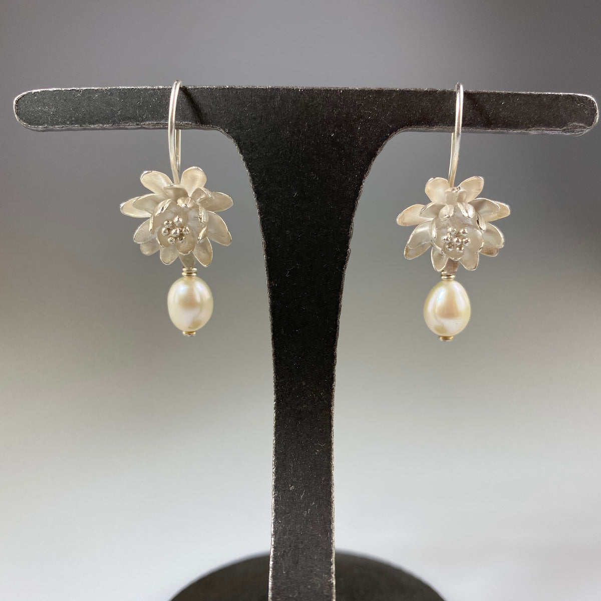 Waterlily Pearl Earrings - Heart of the Home PA