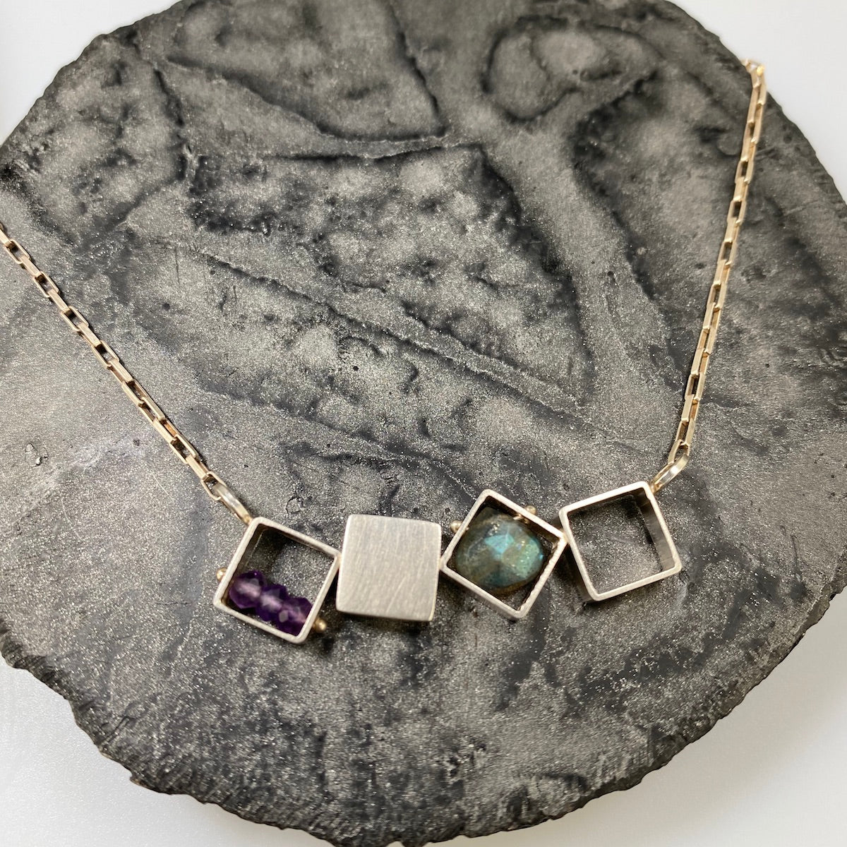 Dancing Squares Horizontal Necklace - Heart of the Home PA
