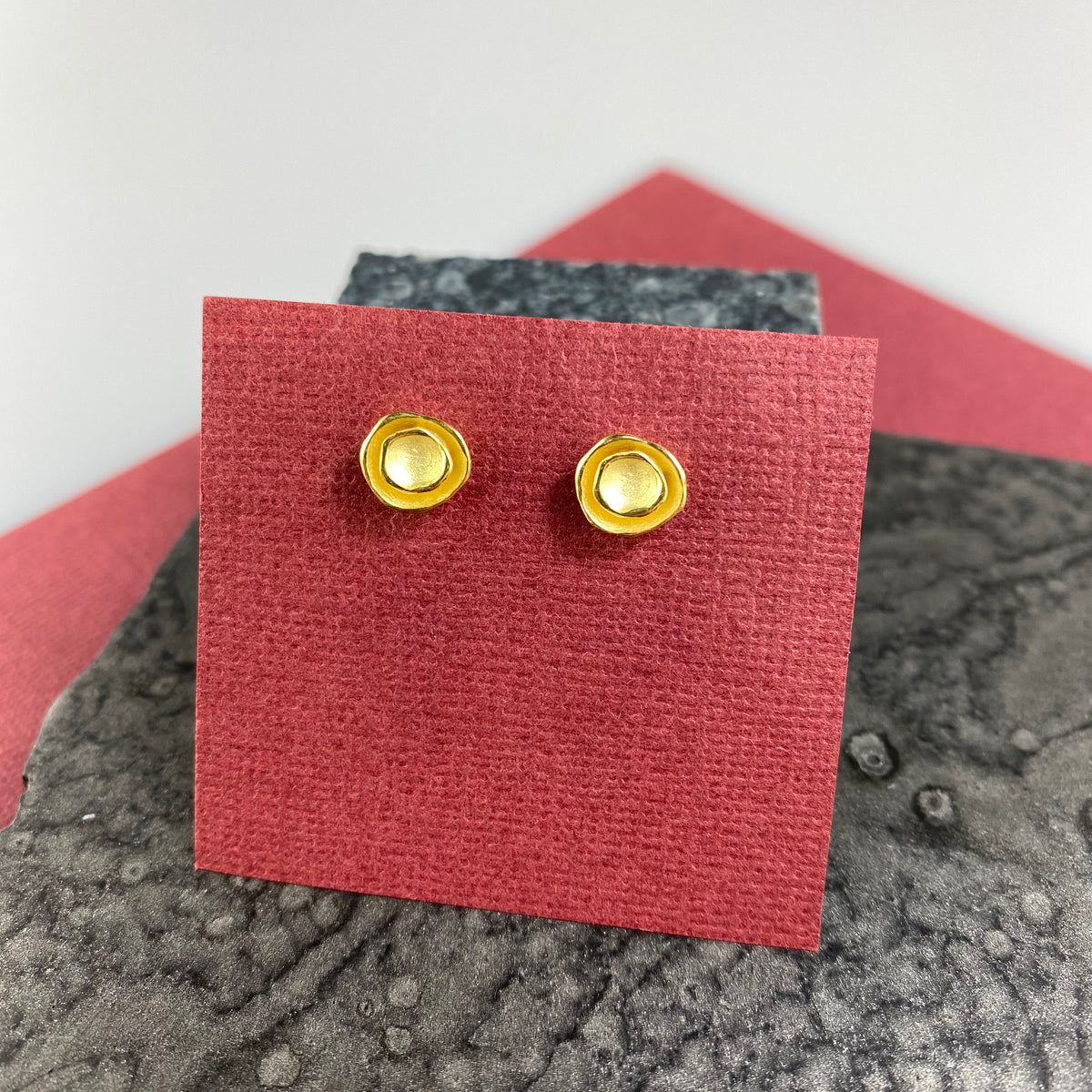 Oyster Pod Post Earrings in Gold Vermeil - Heart of the Home PA