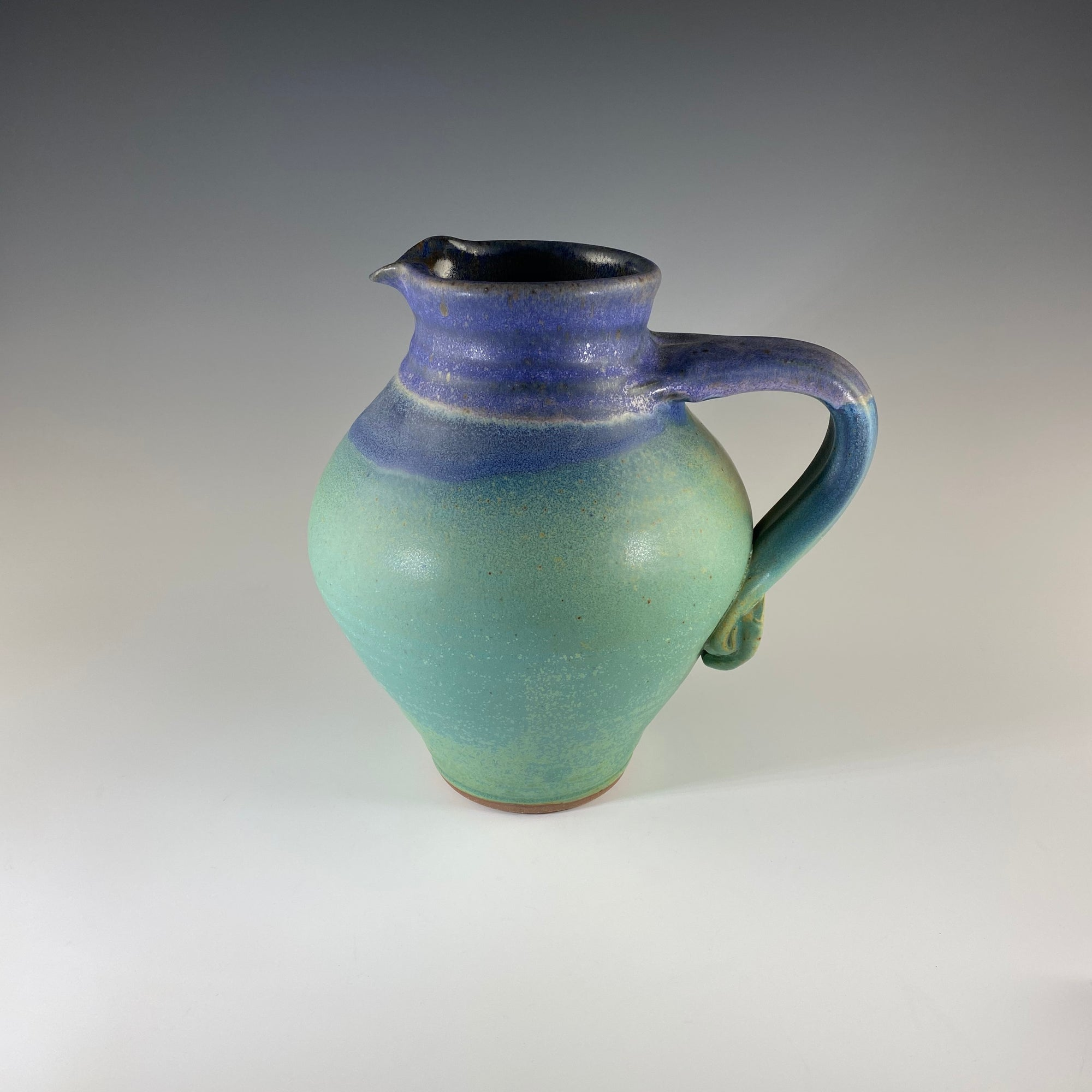 Small Round Pitcher in Turquoise & Lavender - Heart of the Home PA