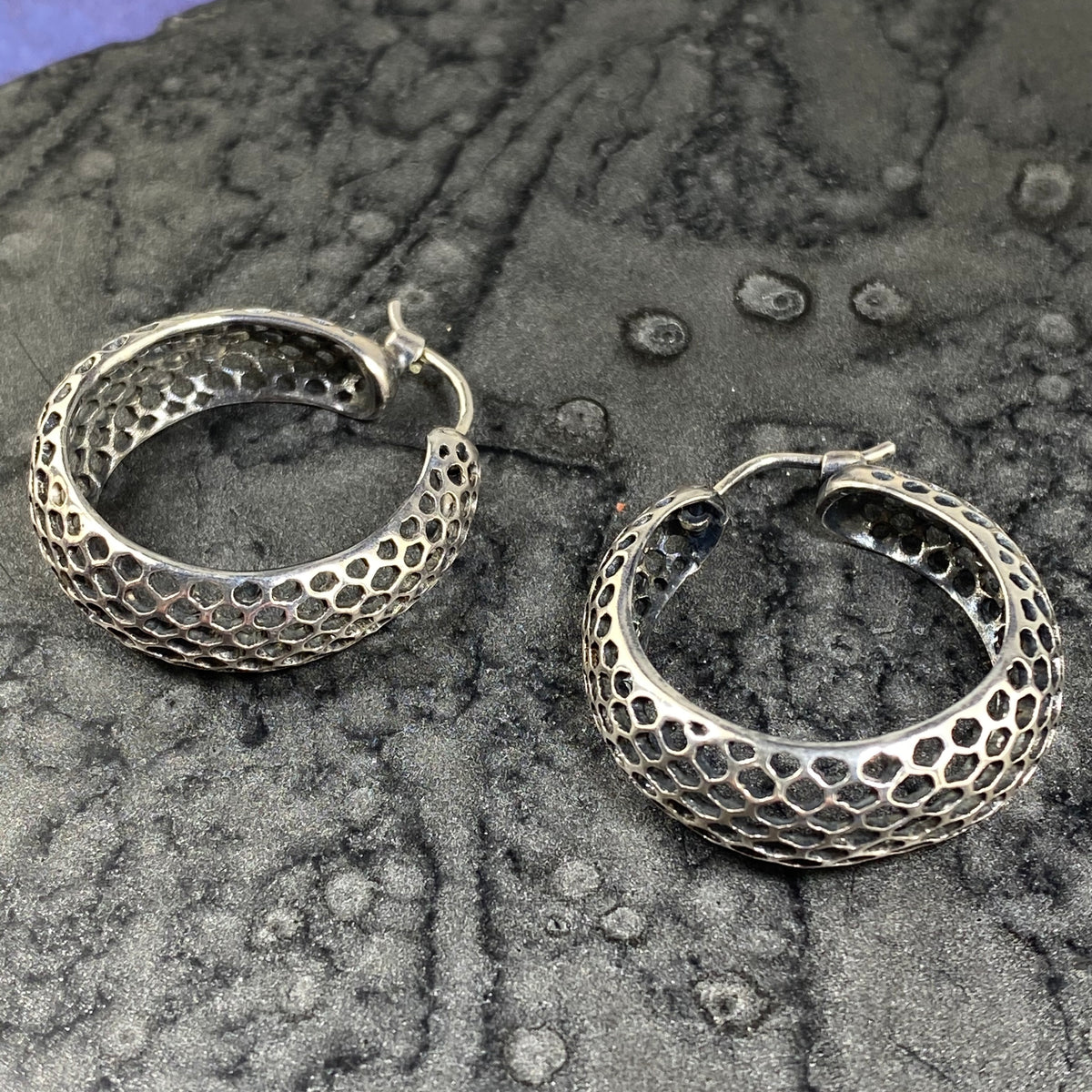 Snakeskin Round Hoop Earrings - Heart of the Home PA