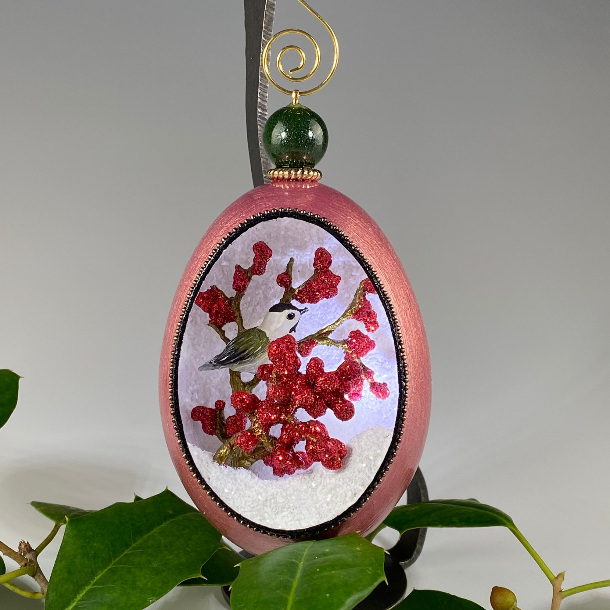 Winter Berries Ornament - Heart of the Home PA