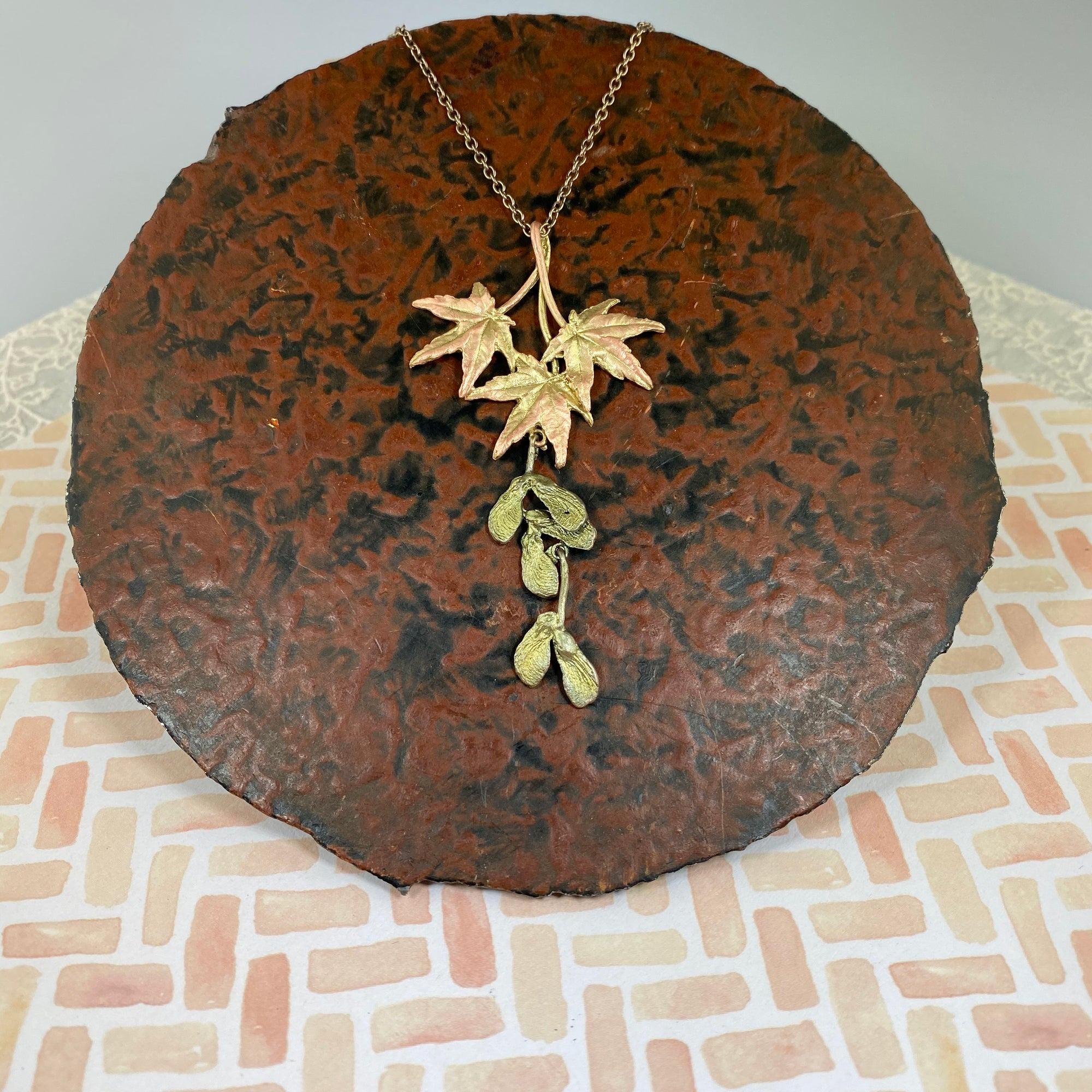 Japanese Maple Leaf Drop Pendant - Heart of the Home PA