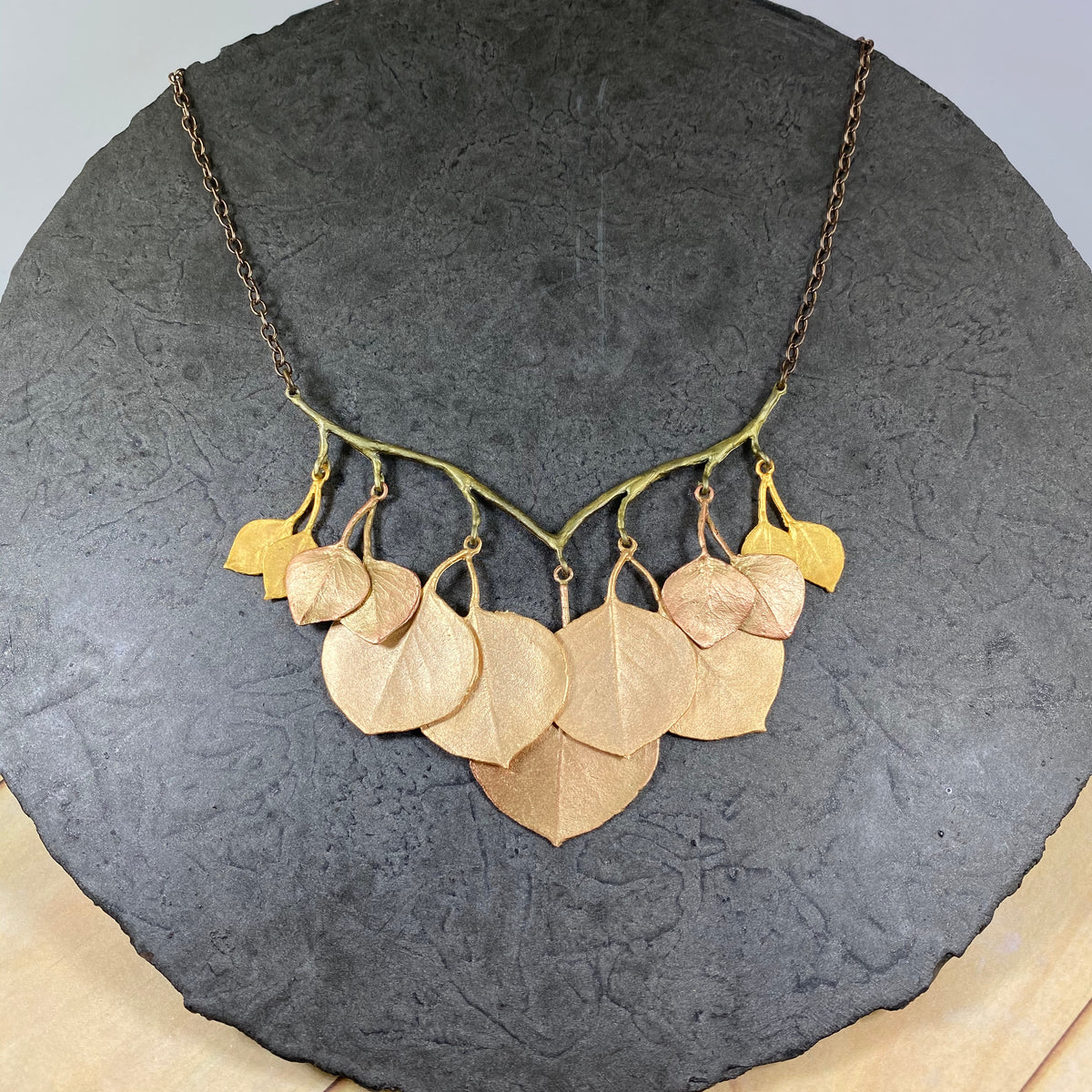Round Leaf Eucalyptus Branch Necklace - Heart of the Home PA