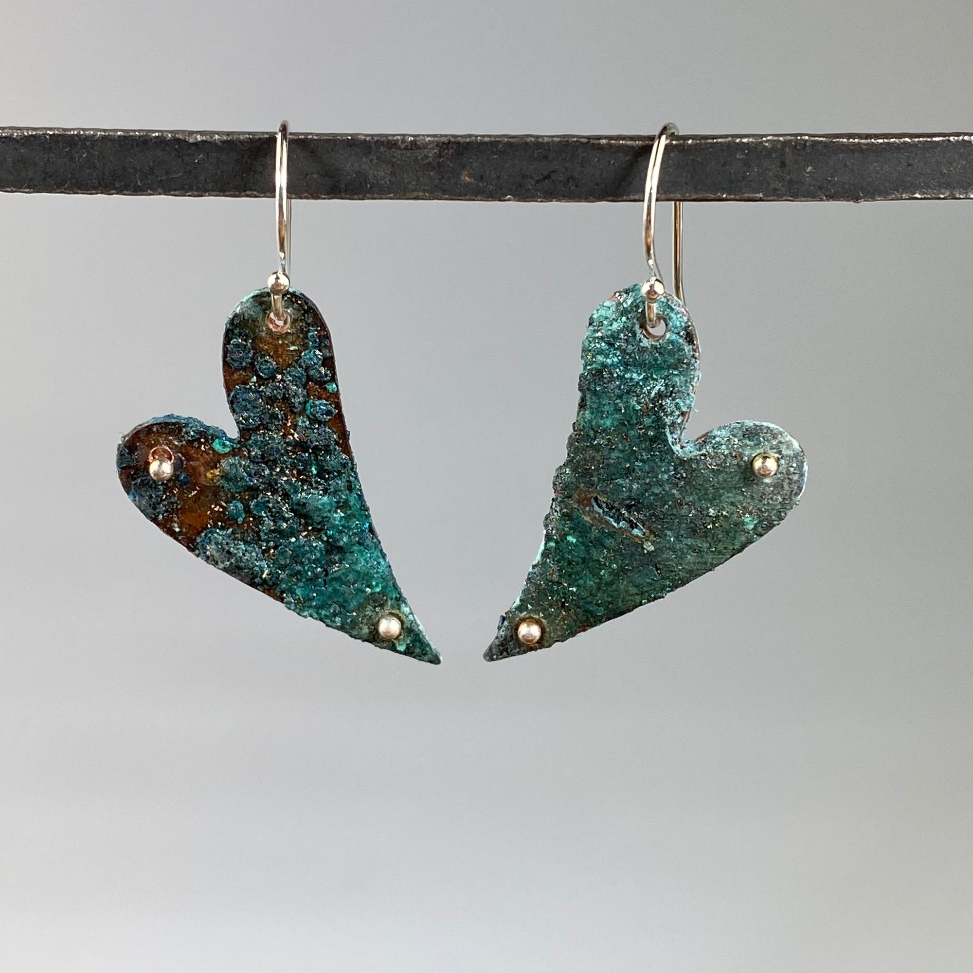 Hearts of Blue Earrings - Heart of the Home PA