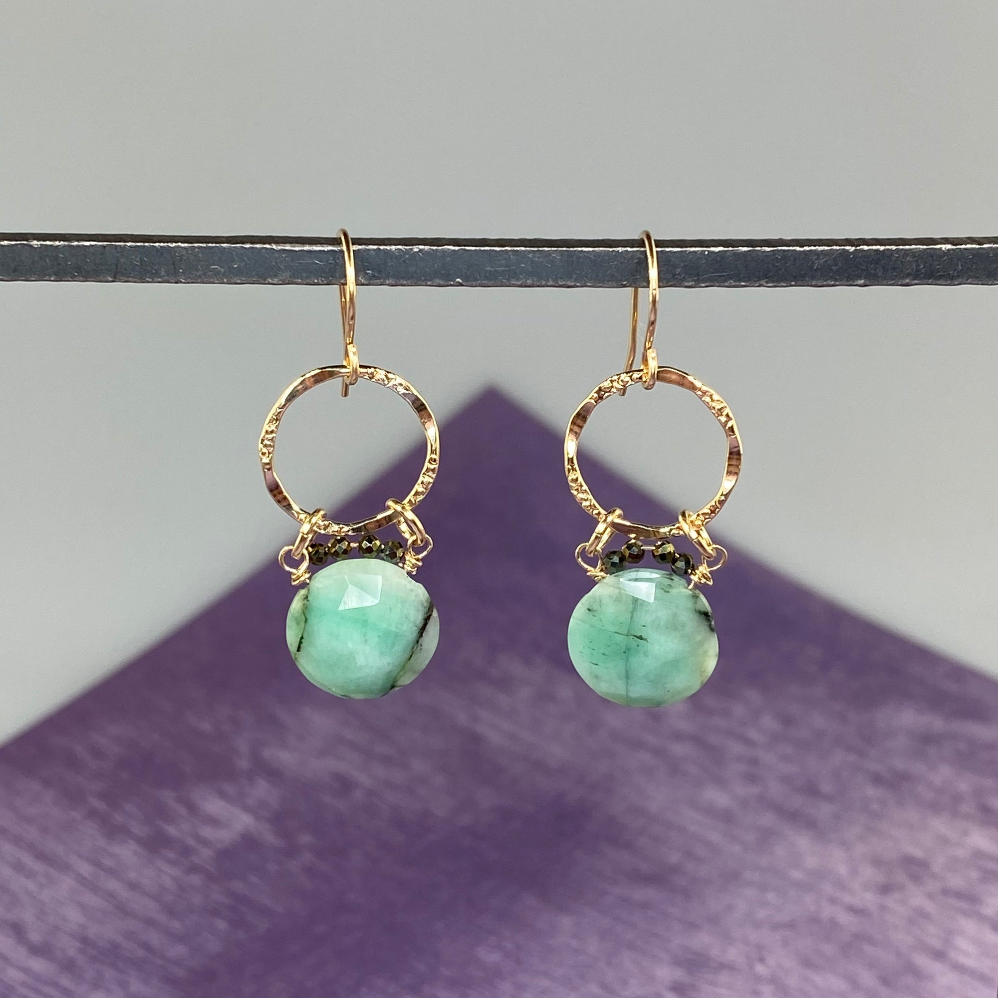 Emerald Coin Earrings - Heart of the Home PA