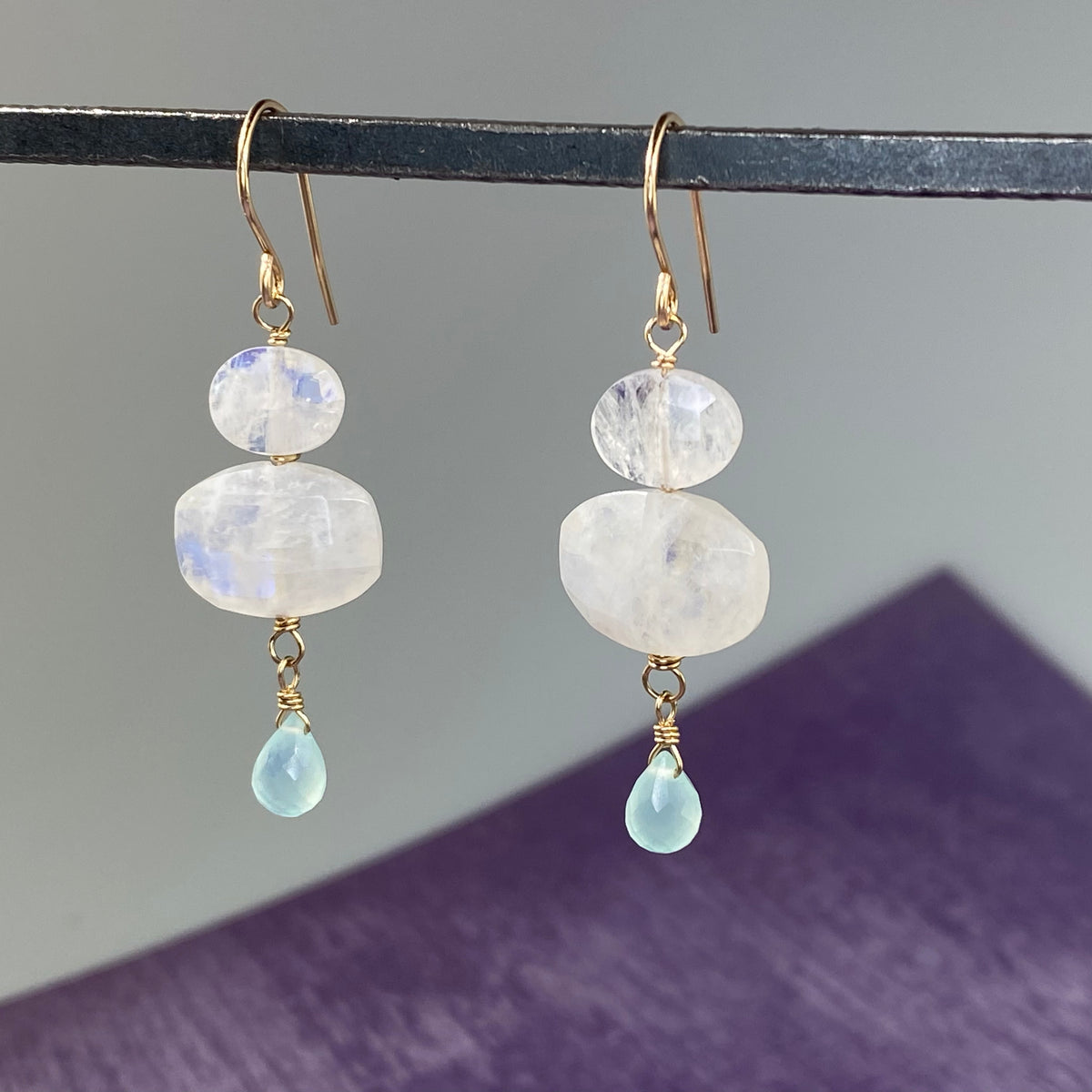 Moonstone Pebble Earrings - Heart of the Home PA