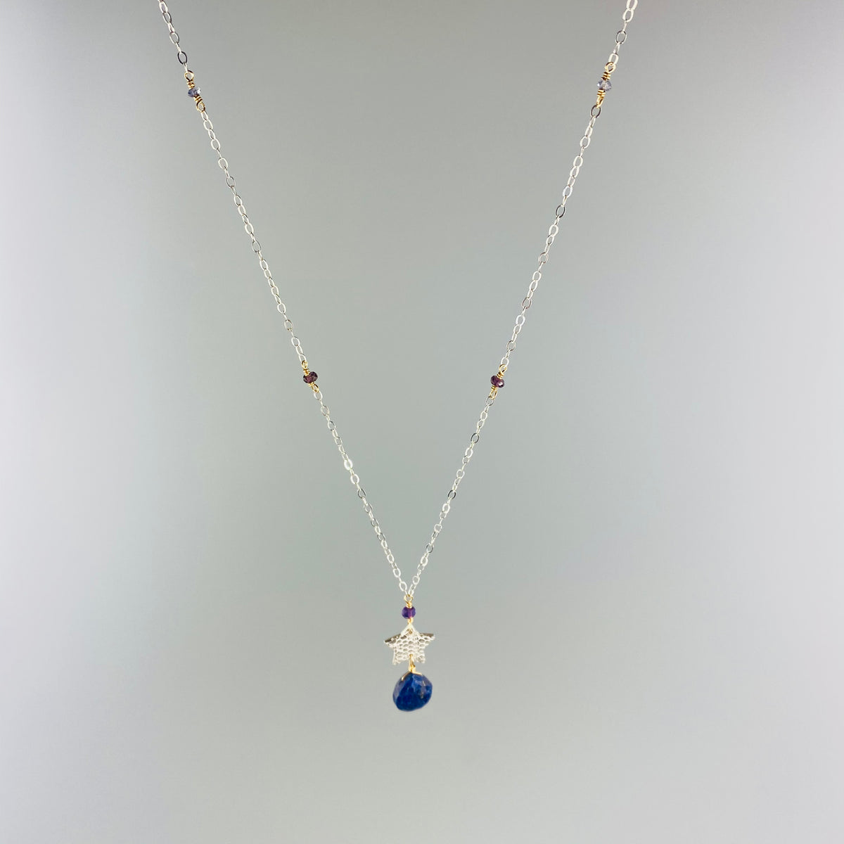 Star & Lapis Drop Necklace - Heart of the Home PA