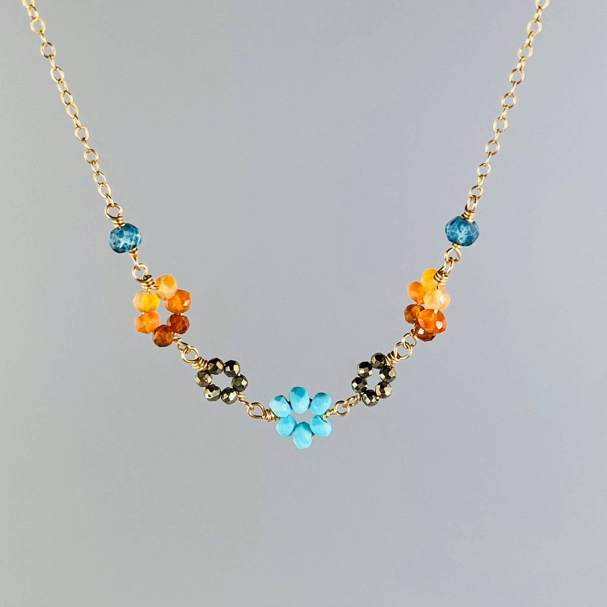 Desert Sky Flower Chain Necklace - Heart of the Home PA
