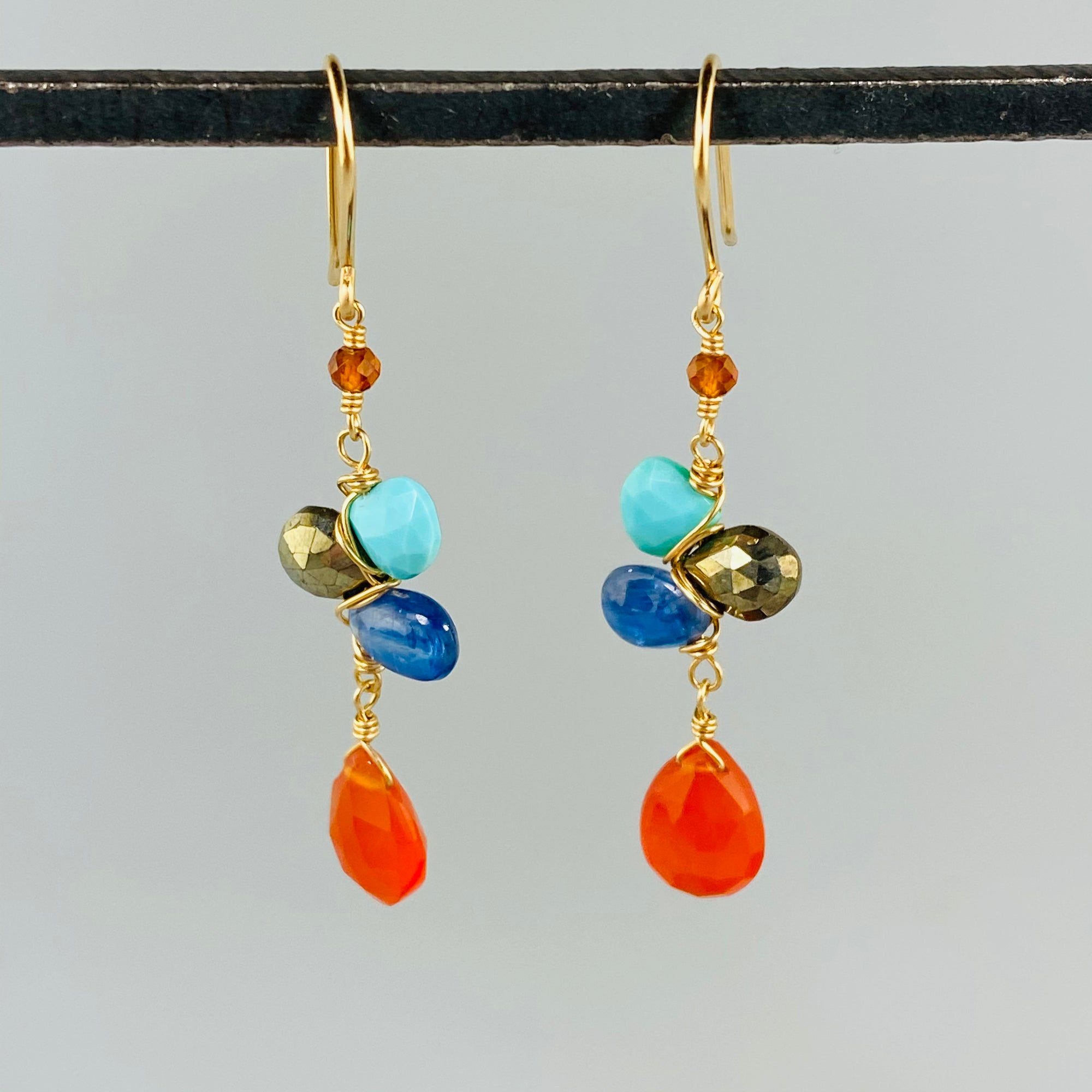 Woven Fox Gemstone Earrings - Heart of the Home PA