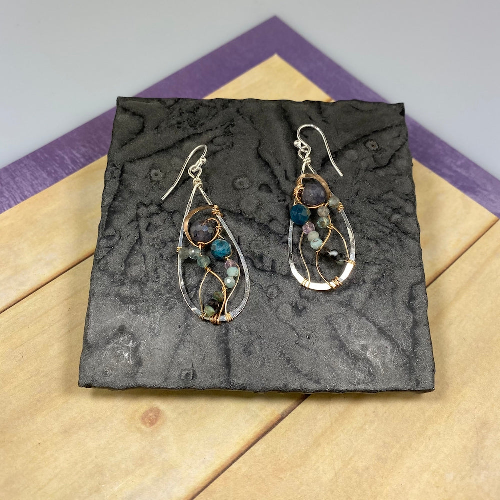 Ruby Zoisite Drop Earrings - Heart of the Home PA
