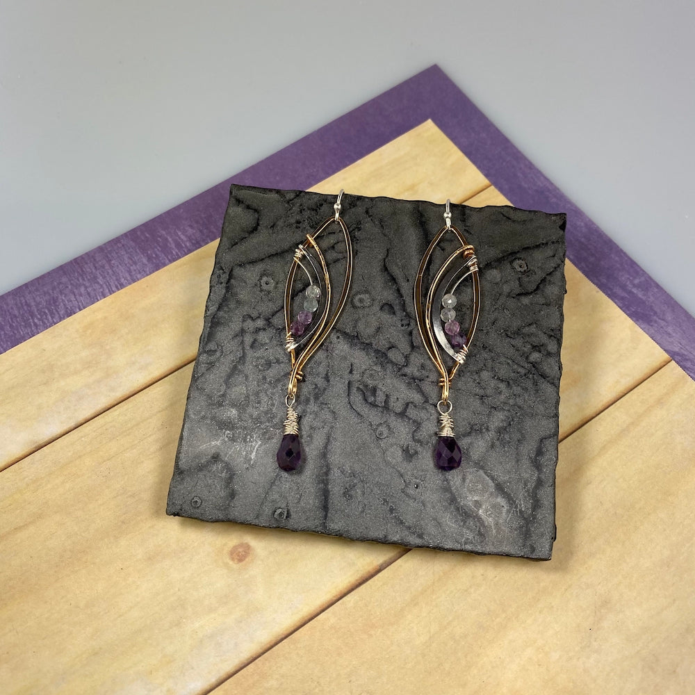 Purple Petal Earrings - Heart of the Home PA
