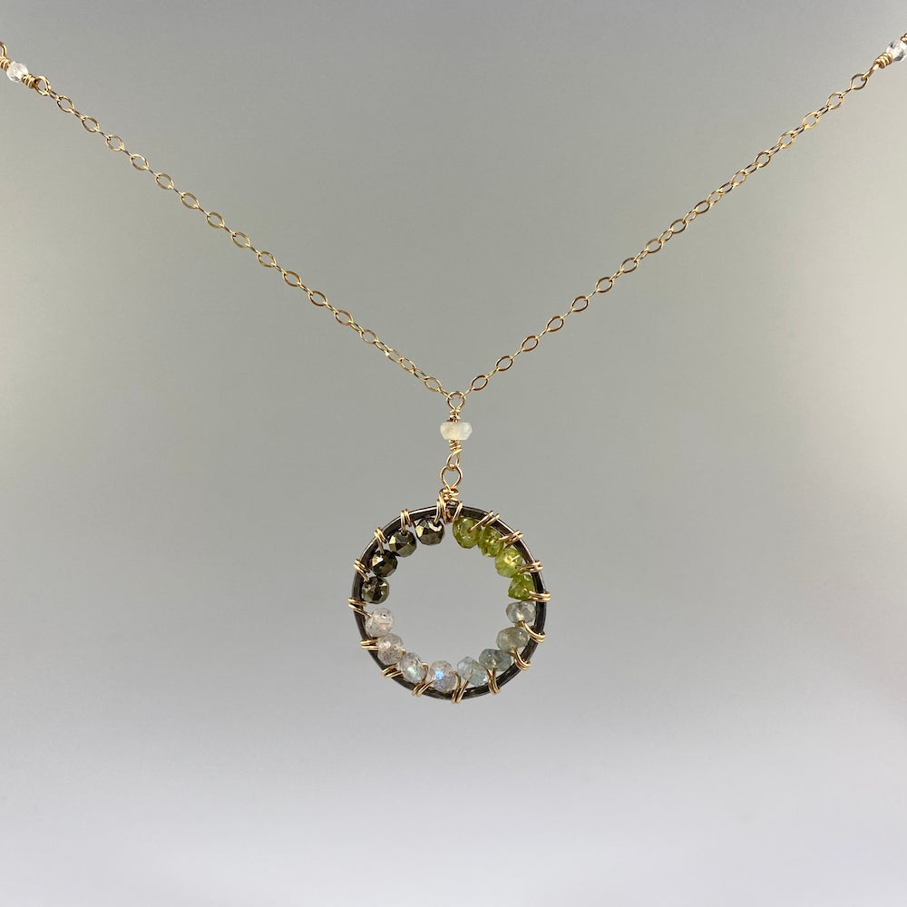 Gorges Wrapped Circle Pendant - Heart of the Home PA