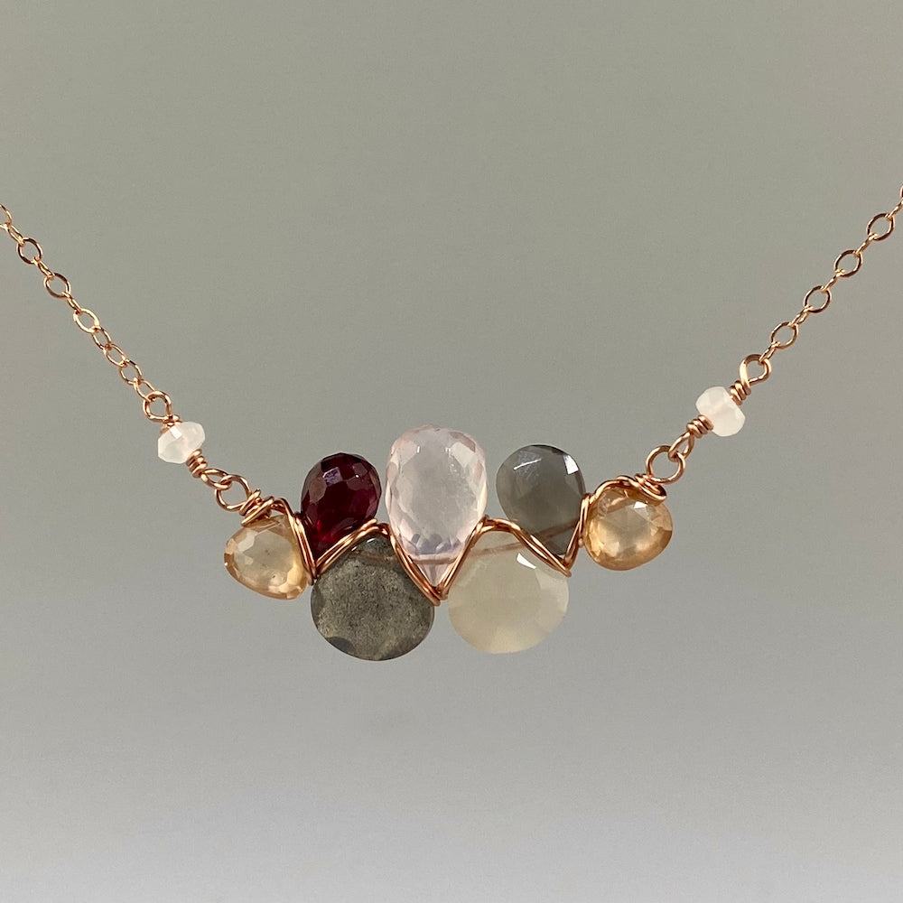 Champagne Cloud Necklace - Heart of the Home PA