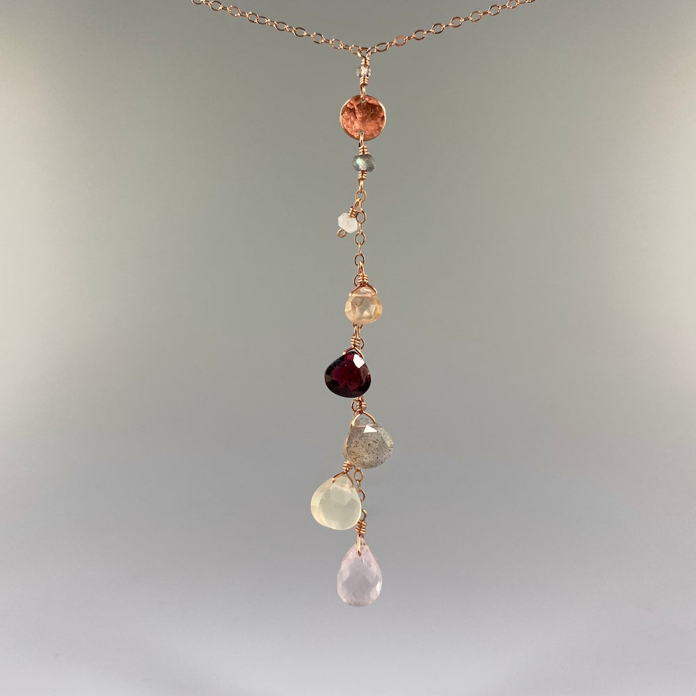 Champagne Y-Shaped Necklace - Heart of the Home PA