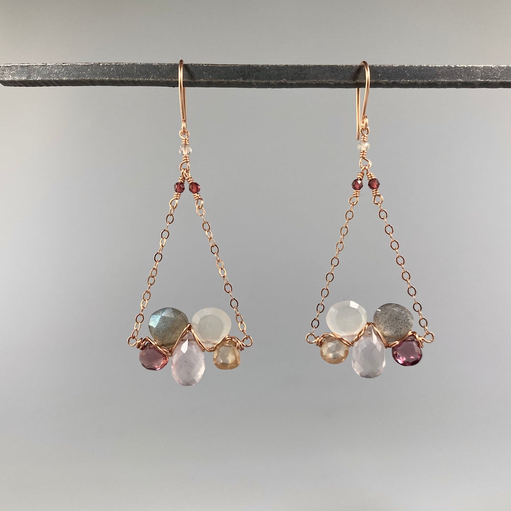 Champagne Little Cloud Earrings - Heart of the Home PA