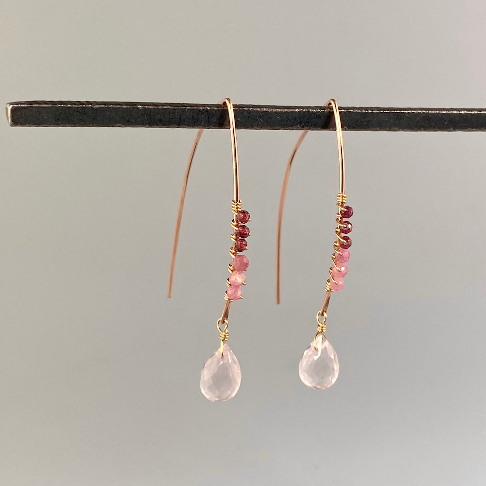 Champagne Wire Wrapped Earrings - Heart of the Home PA