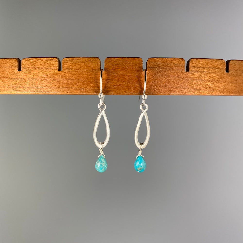 Little Drop Turquoise Earrings - Heart of the Home PA