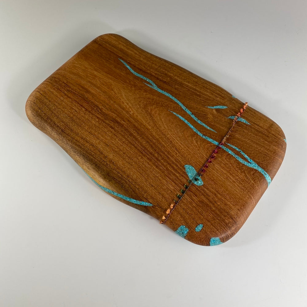 Speckles Mini Mesquite Board with Turquoise - Heart of the Home PA