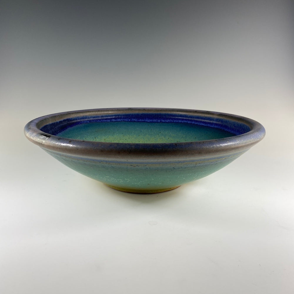 Large Serving Bowl in Turquoise & Lavender - Heart of the Home PA