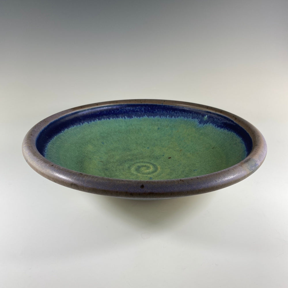 Small Serving Bowl in Turquoise & Lavender - Heart of the Home PA