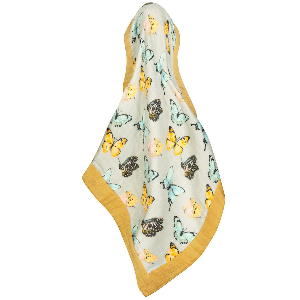 Mini Lovey Muslin Security Blanket in Butterfly - Heart of the Home PA