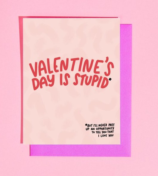 Valentine's Day is Stupid Card - Heart of the Home PA