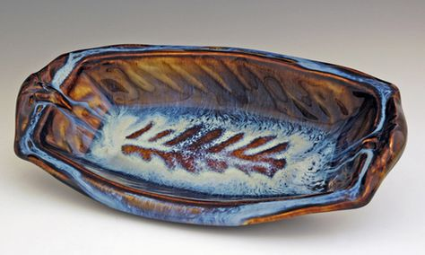 Large Fern Fish Dish - Heart of the Home PA