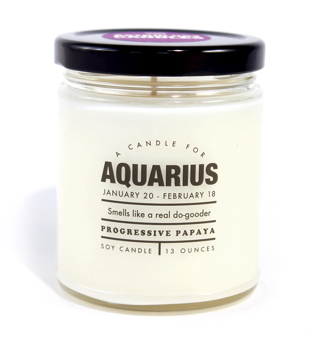 Astrology Candle Aquarius - Heart of the Home PA