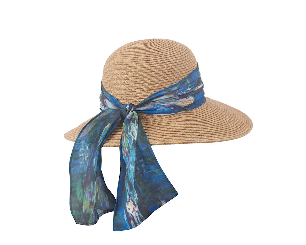 Art Scarf Sun Hat in Waterlilies - Heart of the Home PA