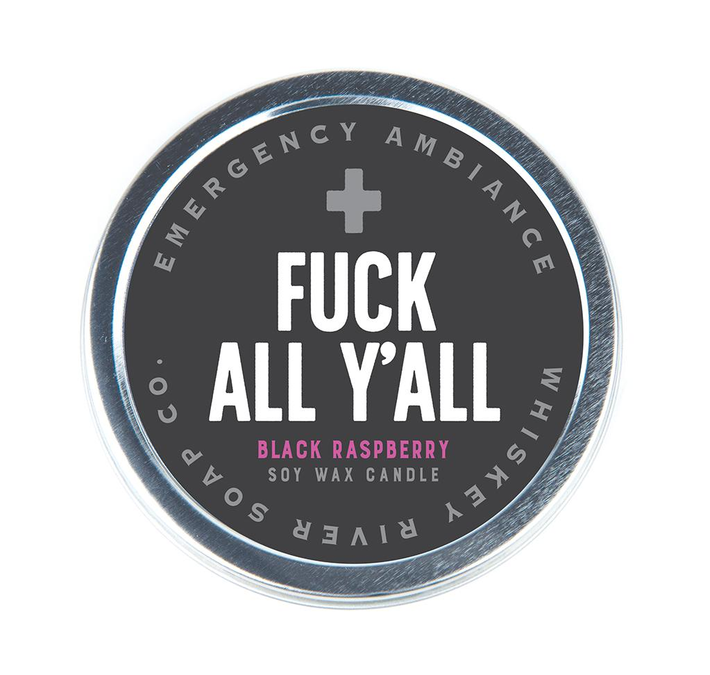 Emergency Ambiance - F*ck All Y'all Travel Tin Candle - Heart of the Home PA