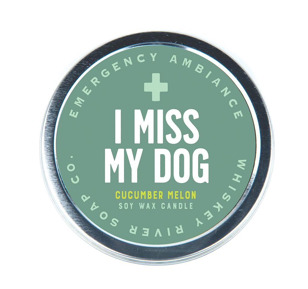 Emergency Ambiance - I Miss My Dog Travel Tin Candle - Heart of the Home PA