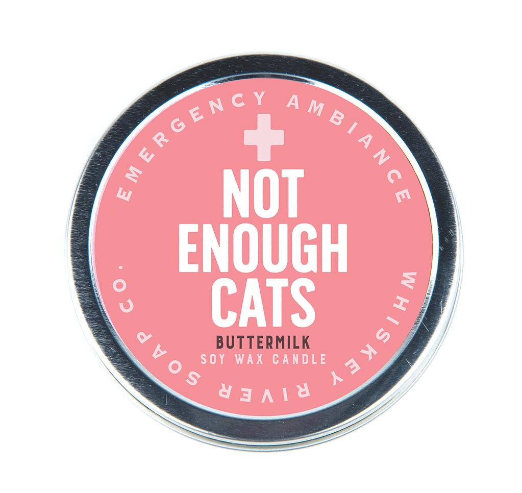 Emergency Ambiance - Not Enough Cats Travel Tin Candle - Heart of the Home PA