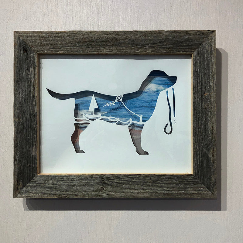 Beachy Dog Barnwood Frame - Heart of the Home PA