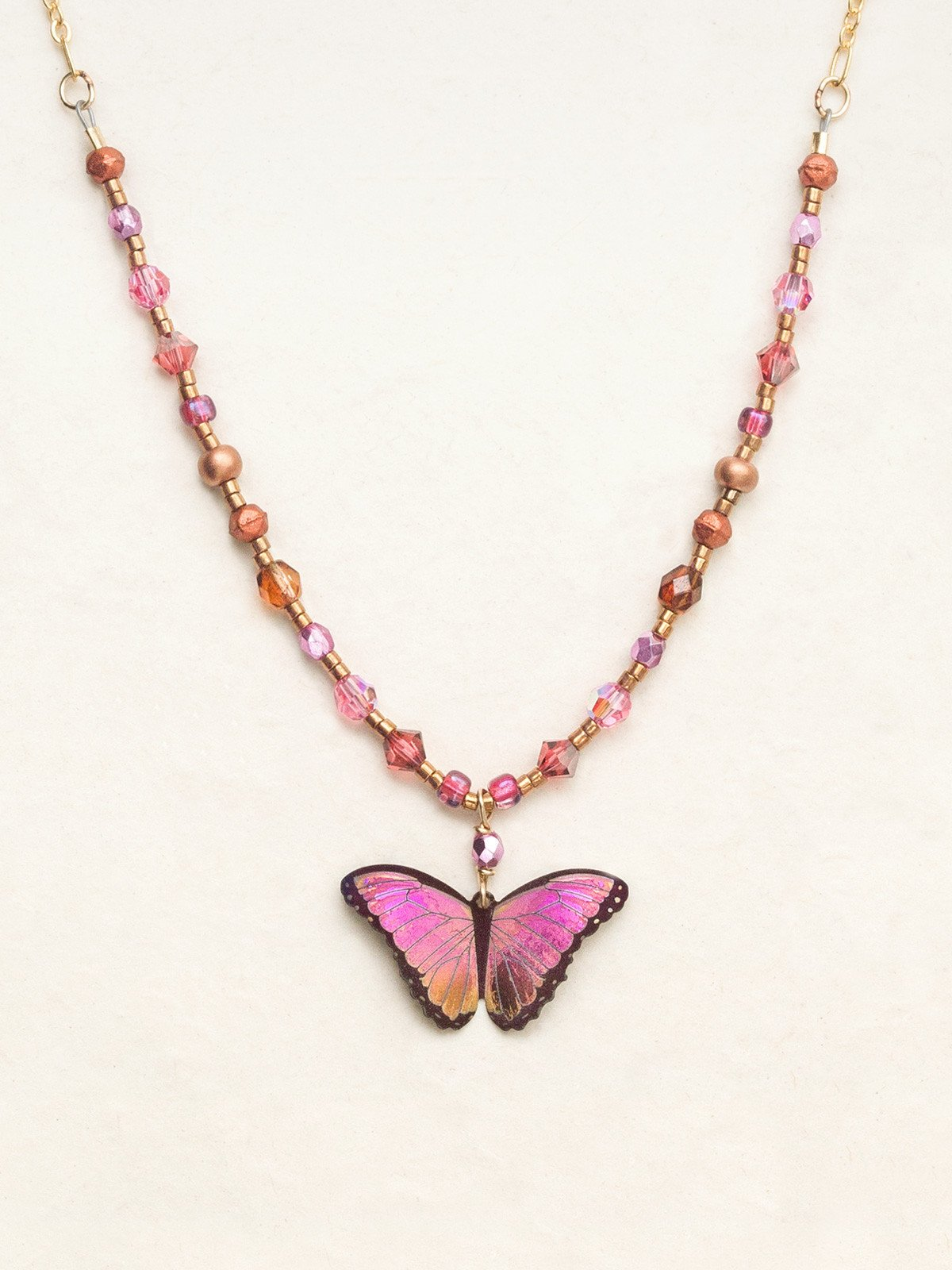 Bella Butterfly Beaded Necklace - Heart of the Home PA