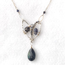 Load image into Gallery viewer, Blue and Silver Petal Necklace