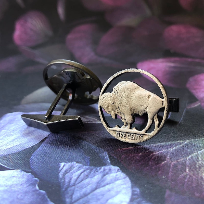 Buffalo Nickel Cufflinks - Heart of the Home PA