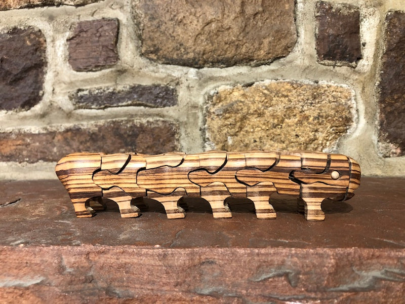 Caterpillar Puzzle in Zebrawood - Heart of the Home PA