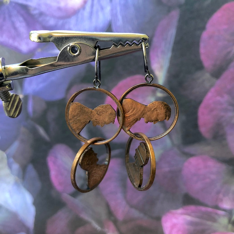 Abe Two Chained Drop Earrings - Heart of the Home PA