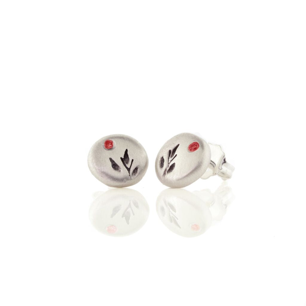 Harvest Charm Stud Ruby Earrings - Heart of the Home PA