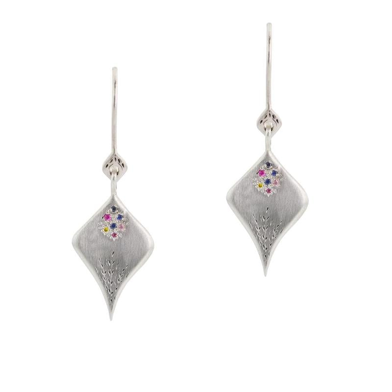 Secret Garden Multisapphire Earrings - Heart of the Home PA
