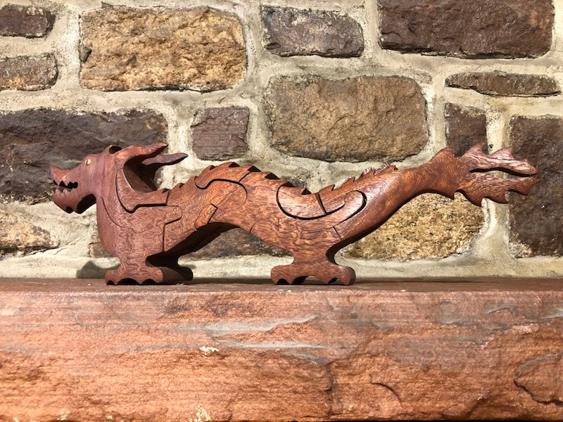 Chinese Dragon Puzzle in Mahogany - Heart of the Home PA